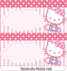 Hello Kitty free printable card or candy bar label. Free Printable Cards, Free Printables, Anniversaire Hello Kitty, School Name Labels, Cardboard City, Oh My Fiesta, Candy Bar Labels, Hello Kitty Cake, Hello Kitty Collection