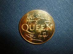 QUEEN Freddie Mercury Commemorative 24KT GOLD COIN. Queen Ii, We Are The Champions, Queen Freddie Mercury, Gold Coins, My Friend, My Boyfriend
