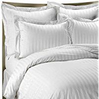 Wamsutta 500 Damask White Duvet Cover Set, Egyptian Cotton, 500 Thread Count This incredibly luxurious white duvet cover set has a classic damask stripe that reverses to a pinstripe. It will add an elegant look and feel to your bedroom. Ivory Duvet Cover, King Duvet Cover Sets, White Duvet Covers, Duvet Sets, Damask Bedding, Duvet Bedding, Bedding Shop, Sofa Bed Sheets, Egyptian Cotton Duvet Cover