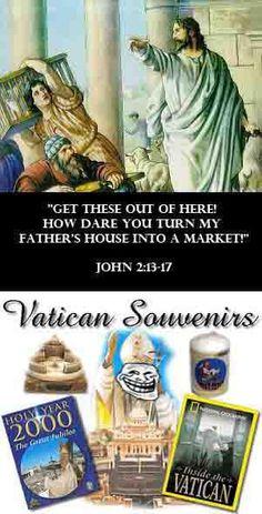 Vatican Souvenirs? #bible #atheist #atheism