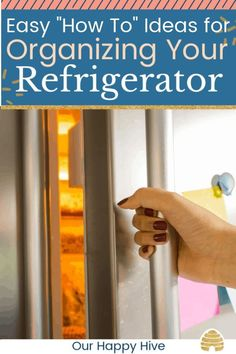 This post has great tips on how to organize your refrigerator. It includes information about zones and storage areas, foods that shouldn't be stored in the fridge, and ideas that. Refrigerator Organization, Home Organization Hacks, Organizing Your Home, Kitchen Organization, Organizing Tips, Freezer Organization, Organising Ideas, Closet Organization, Kitchen Storage
