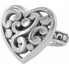 I want this ring, I have the bracelet and the necklace ... sigh! Contempo Heart Ring  available at #Brighton