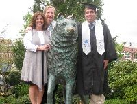 """""""Dave was an amazing person whose life was cut tragically short. He would have graduated this past year, and while we know he will not be able to make the mark in the world that we know he would have, in a way his dream will live on in this scholarship. We are so happy to contribute in his name.""""    Bob and Nancy '80 MA '85 McGee  Donors, David Plamondon Memorial Fund (related link) and  Neag School of Education Undergraduate Scholarship Fund"""