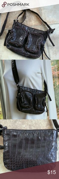 BUENO Crossbody Boho Bag Great bag for just your essentials. 48 inch strap, two zipper pockets in the front, zipper pouch and pockets inside.  Great chocolate brown color. Perfect for fall! Strap ~ adjustable from 24 to 48 inches (buckle is snug, so adjust carefully to avoid damage) 7 in (L) X 5 3/4 in (H) X 1 in (D) Bundle and save 15% Thanks for looking! Bueno Bags Crossbody Bags