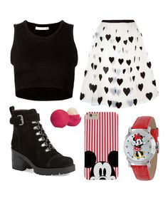 """Mickey 's Outfit"" by kiki2005 on Polyvore featuring moda, Alice + Olivia, Nine West, Julien David, Disney, Eos y disney"