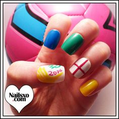 #prom World cup 2014 nail art
