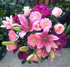 Ramo QDF de flores rosas