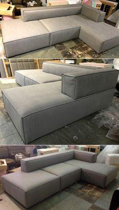 Diy Indoor Furniture, Sofa Furniture, Modern Furniture, Furniture Design, Corner Seating, Minimalist Decor, Modern House Design, Floor Pillows, Love Seat