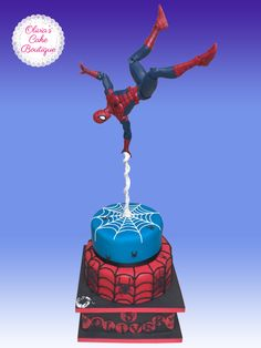 Spiderman illusion birthday cake #spiderman #marvel #superheroes #spidermanbirthdaycake