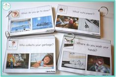 WH Questions with Real Pictures! Includes posters and a progress monitoring tool as well. Perfect for speech and language therapy! From Speechy Musings.