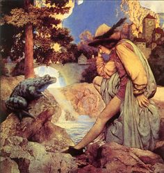 Maxfield Parrish--Frog Prince