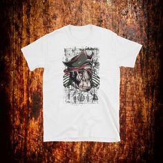 Monkey Pirate Shirt | Pirate T-Shirt | Ape Shirt | Grunge Shirt | Pirate Gift by 2Steps2Fashion on Etsy