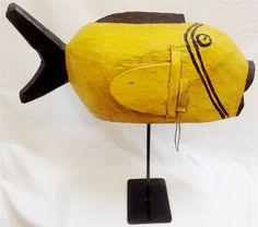 Bozo Puppet Yellow Puffer Fish - Bozo Tribe, Central Mali Africa ...