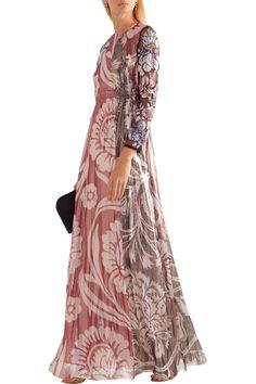Izoia appliquéd silk-blend lamé maxi dress | BIYAN | Sale up to 70% off | THE OUTNET