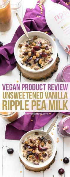 New Product Review! Unsweetened Vanilla Ripple Pea Milk - High in protein, zero sugar, and allergy-friendly! #vegan #soyfree #nutfree #ripplefoods #dairyfreedom