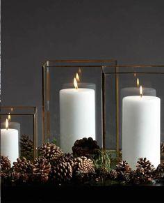 Slettvoll Scandinavian Christmas, Scandinavian Interior, Rustic Christmas, Candle Lanterns, Pillar Candles, Candleholders, Christmas Interiors, Christmas Past, Christmas Inspiration