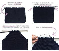 abrigo-de-punto-1 Easy Knitting Patterns, Knitting For Kids, Free Knitting, Knitting Projects, Baby Knitting, Knitted Baby, Crochet Cardigan Pattern, Knit Crochet, Baby Coat