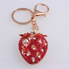 >> Click to Buy << New 2017 Strawberry Keychain Cute Keyring for Women nocelty Fruit Cartoon Key Chain innnovative trinket gadget christmas gift #Affiliate