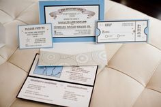 Of course invited and save the dates are a must. these cute little invites really capture the theme.