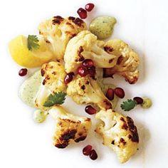 Fried Cauliflower with Tahini and Pomegranate Seeds | CookingLight.com
