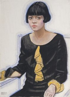 "Winold Reiss: ""Sari Price Patton,"" 1925. Private collection. © The Reiss Partnership.""There is very little info available on Sari Price Patton, but she was the hostess at a popular Harlem salon run by A'Lelia Walker."" - Wearable Art"