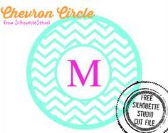 Chevron Circle (Free Silhouette Studio Cut File) ~ Silhouette School