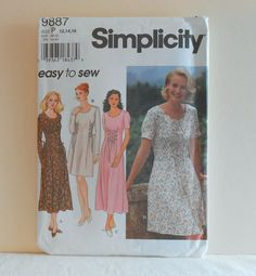Simplicity 9887 Pullover Laced Waist Dress Size 12 by joyoftatting, $6.00