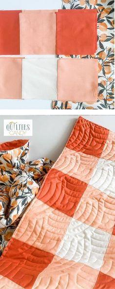 Modern Quilt Pattern, easy beginner quilt, gingham quilt, squares quilt pattern, how to quilt, diary of a quilter