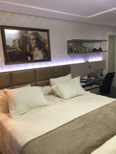 Projeto Finalizado - Suíte Casal com Closet - Apartamento Residencial Condomínio Ed. Vista Del Mare