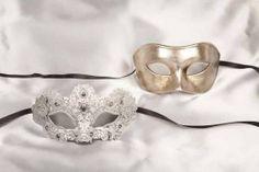 blue luxury lace masks for couple