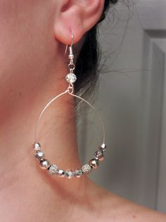 Silver and Crystal Clear Two toned - simple and classy