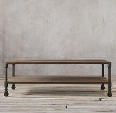 Dutch Industrial Coffee Table  Restoration Hardware comes in different finishes