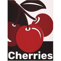 The #cherry #canvas #print makes a beautiful #wallart o for a kitchen. The color does not match your needs? Change the background color to #colorityourway #zazzle #zazzlemade