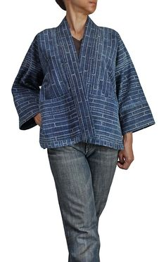 Another spin on the kimono jacket, with pockets, from sawan.org