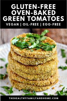 Over Plant-Based Vegan and Gluten-Free recipes made with clean, real food ingredients. Easy and healthy recipes that everyone will love! Egg Free Recipes, Whole Food Recipes, Vegan Recipes, Dishes Recipes, Healthy Appetizers, Appetizer Recipes, Snack Recipes, Baked Green Tomatoes, Fried Tomatoes
