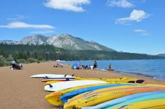 Beautiful Baldwin Beach and Ski Beach, just one of South Lake Tahoe beaches worth visiting this summer.
