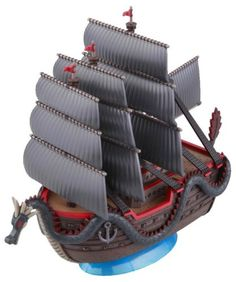 Watercraft Model Kits - Bandai Hobby Grand Ship Collection Dragons Ship One Piece Model Kit *** Learn more by visiting the image link.