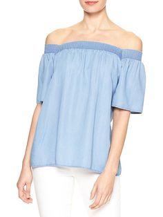 //Gap Tencel ® off-shoulder top