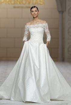 Brides: Pronovias Wedding Dresses Fall 2015 Bridal Runway Shows Brides.com   Wedding Dresses Style