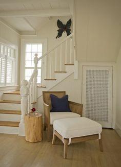 Marthas Vineyard Living Room traditional staircase