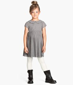 H&M Pleated Dress $19.95 Photo shoot. SUPER cute for Anika. Would need white tights and black boots to complete the look for Izy. A bit spendy...