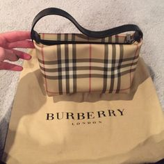 Burberry small bag Good condition little wear on edge really cute to go out  with authentic small Burberry Handbag Small Tote Clutch Bag Designer Nova House Check Burberry Bags Mini Bags