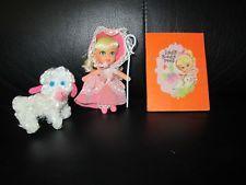 Vintage Liddle Kiddles Biddle Peep Little Bo Peep Booklet Doll Set Storybook