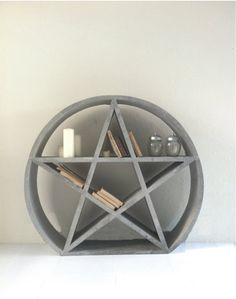 PENTACLE BOOKCASE  EXCLUSIVE unique piece by MotherOracle on Etsy