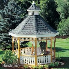 37 Free Do It Yourself Gazebo, Arbor and Pergola Building Plans