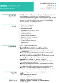 Are you looking for a procurement specialist job? Here we have the best recommended professional procurement specialist resume sample. Simple Resume Format, Best Resume Format, Manager Resume, Student Resume, Resume Cv, Free Resume, Sample Resume, Resume Format Download