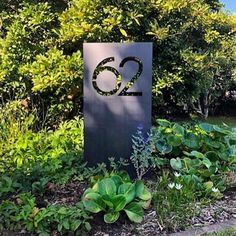 large modern house number in NZ corten rusting steel by Lisa Turley (