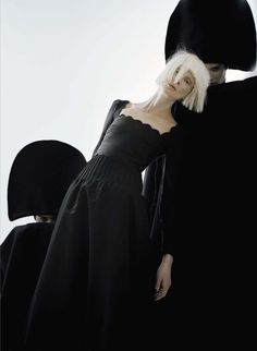 "Kristen McMenamy in ""Black and Roses"" by Tim Walker for Vogue Italia October 2012"