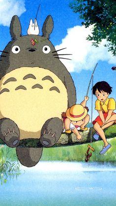 Ghibli My Neighbor Totoro Anime iPhone 6 Wallpaper Studio Ghibli Art, Studio Ghibli Movies, Cute Cartoon Wallpapers, Animes Wallpapers, Miyazaki Totoro, Studio Ghibli Background, Logo Background, My Neighbor Totoro, Image Manga