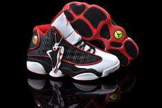 Jordan 13 basketball shoes white black red $80.52